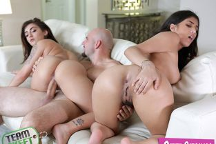 TeamSkeet - Jezebeth, Sophia Leone Splitting Up The Stepsisters StepSiblings
