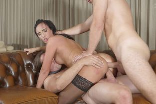 BangGlamkore - Katie Dee Gets Her Holes Ravaged By Two Dicks