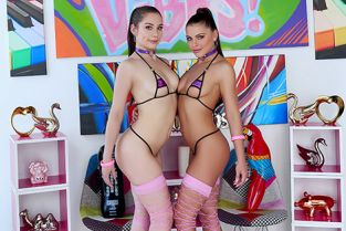 Swallowed - Adriana Chechik, Kayla Paris Let the Oral Games Begin