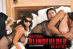 Hustler - Ella Knox Natural Blindfolded Beauties