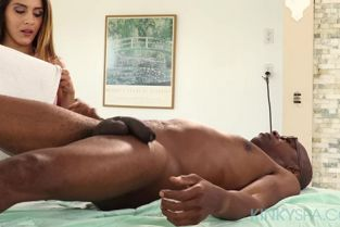 KinkySpa - Liv Revamped Latina masseuse Liv Revamped can't resist his BBC on her first day