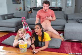 RealityKings - Kira Noir, Anastasia Knight Dick Flicks And Chill RKPrime